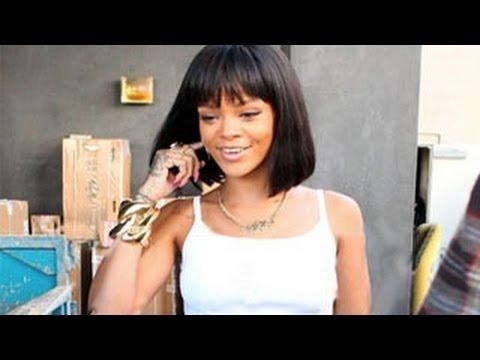Rihanna Sports A Cleopatra Styled Haircut Miley Cyrus