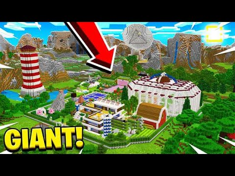 WORLD'S BIGGEST MINECRAFT POCKET EDITION HOUSE!
