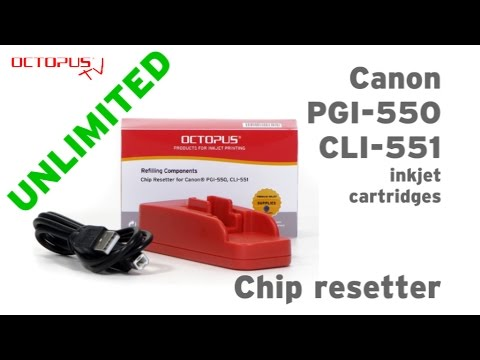 Instruction for resetting Canon PGI-550 and CLI-551