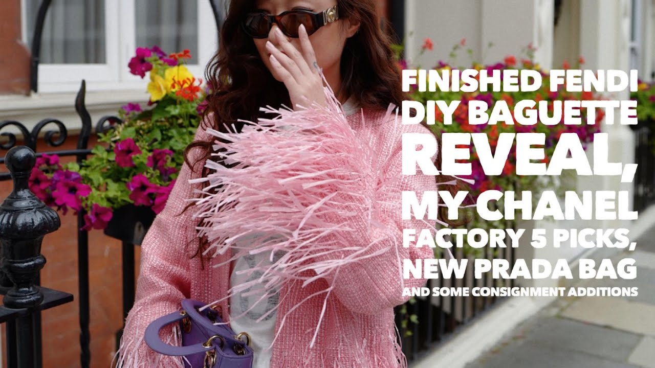 Fendi DIY Baguette Reveal, Chanel Factory 5, New Prada Bag, and Consignment Additions| Wenwen Stokes