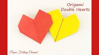 How to make Double Hearts  (simple origami)