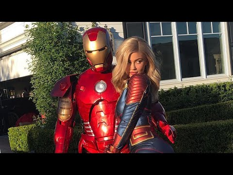 Kylie Jenner and Travis Scott Dress Up as 'Avengers' and It's MAJOR!