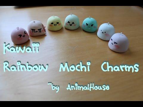 Air Dry Clay Kawaii Mochi Charms Tutorial