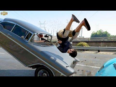 Slow Motion Car Crash Pt. 3 GTA V