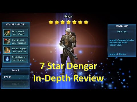 Star Wars Galaxy of Heroes: 7 Star Dengar In-Depth Review