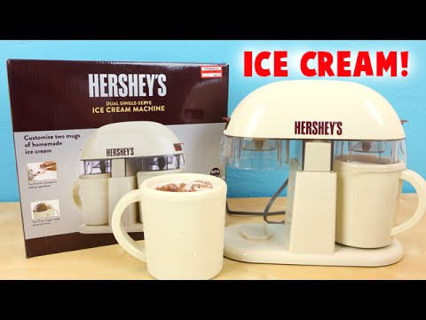 Hershey's Ice Cream Machine Dual Single Serve - Make Chocolate Ice Cream!