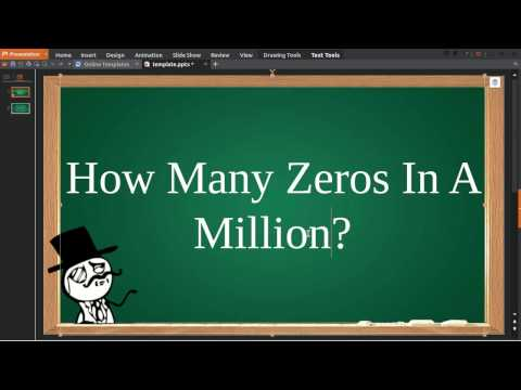 How Many Zeros In Million