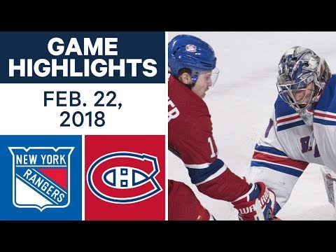 NHL Game Highlights   Rangers vs. Canadiens - Feb. 22, 2018