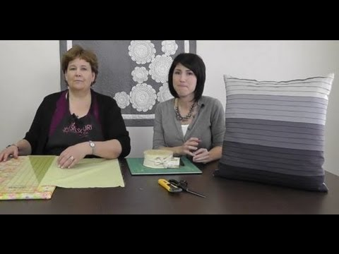 Faux Pleated Pillow Tutorial by V and Co. with Jenny Doan