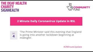 Coronavirus 2 Minute Update - 4th January 2021