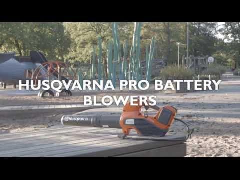 learn-about-husqvarna-pro-battery-blowers
