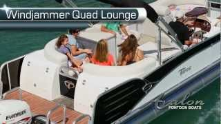 2013 Pontoon Boats- Windjammer Quad Lounge - Avalon Pontoon Boats