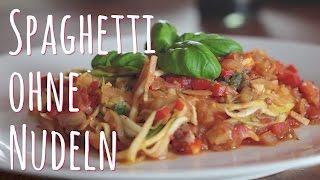 Spaghetti ohne Nudeln - meine Low Carb HCG Pasta mit Zucchini