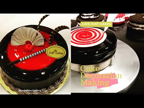Cake Decoration Video//live Just cake Collection Bangalore //Monjathizz Gallery
