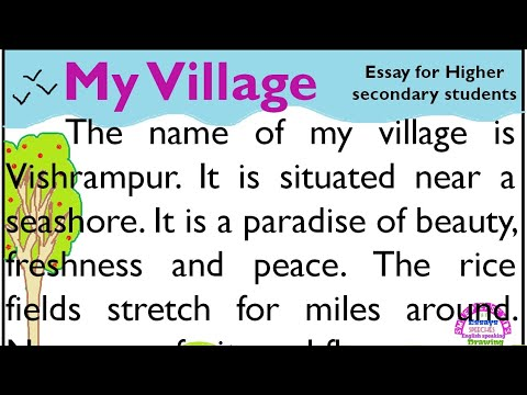 My village essay in English by Smile Please Kids - YouTube