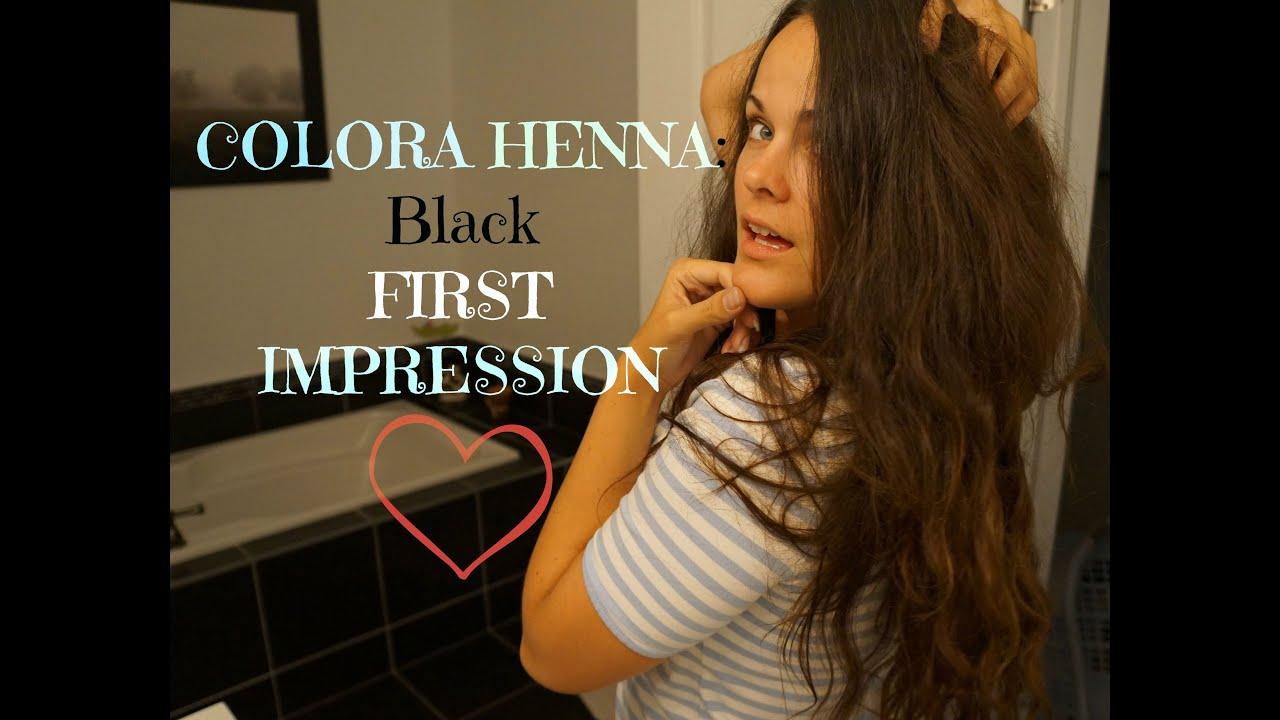 Colora BLACK Henna Hair Dye Tutorial First Impression