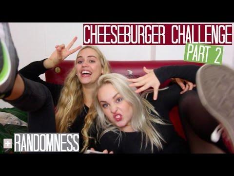 Cheeseburger challenge part 2 & PSYCHO GIRLS w/ Julia Sofia