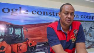 ogle construction kcb partner for first tarmac road in wajir county