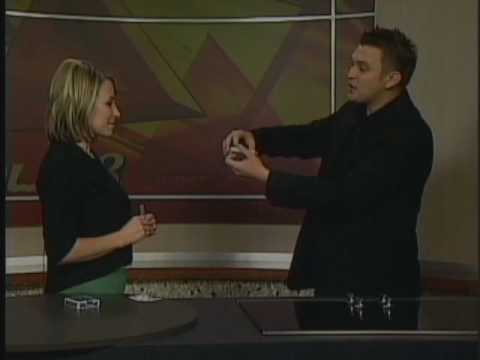 2 of 3 - Ed Clarke performing Close up magic live on kolo8 tv in Reno nevada