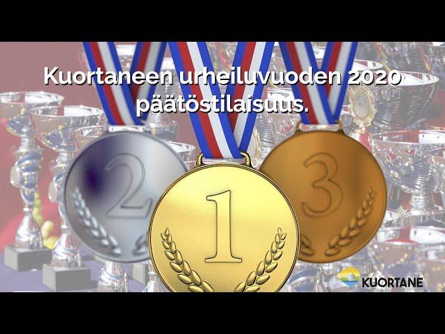 Kuortaneen urheiluvuoden 2020 päätöstilaisuus