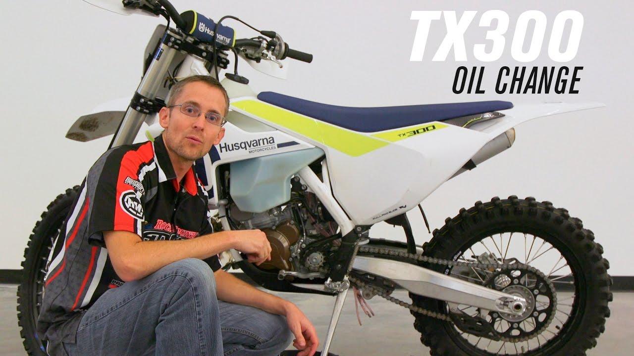 2017 Husqvarna TX 300 Oil Change - YouTube