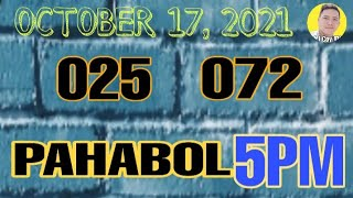 [LIVE] FOR 5PM PAHABOL OCTOBER 17, 2O21