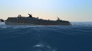 Cruise ship sinks like Titanic | Ship Simulator Extremes [ HDR, 60FPS ]
