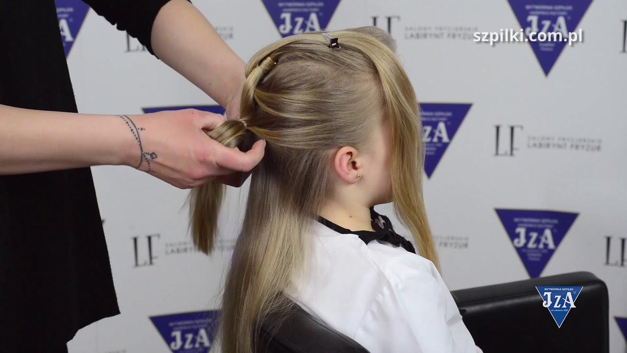e5e89310fa Prosty sposób na efektowną fryzurę komunijną - YouTube