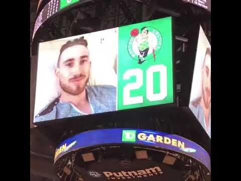 Gordon Haywards message for Boston Celtics fans during home opener! Gordon Hayward message to fans