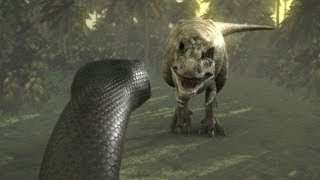 Repeat youtube video Titanoboa: Monster Snake - Titanoboa Vs. T-Rex