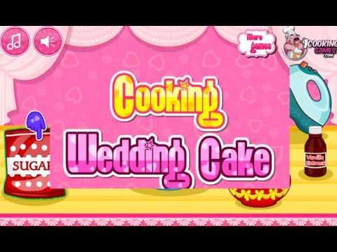 Приготовление свадебного торт!а Игра для девочек! Детские игры про готовку!