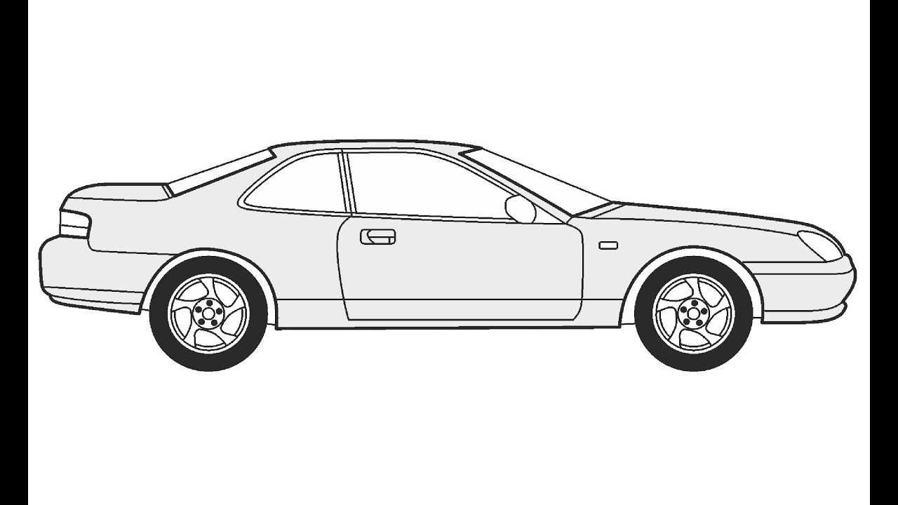 How to Draw a Honda Prelude / Как нарисовать Honda Prelude