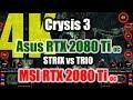 Asus Strix RTX 2080 Ti O8G Gaming versus MSI RTX 2080 Ti Gaming X TRIO - Overclocking Performance