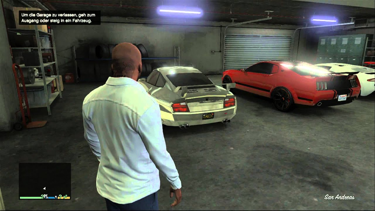 Gta 5 My Garage With Franklin Hd Xbox 360 Youtube