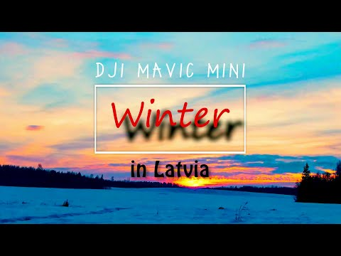 Winter in Latvia | Cinematic drone footage | Dji mavic mini