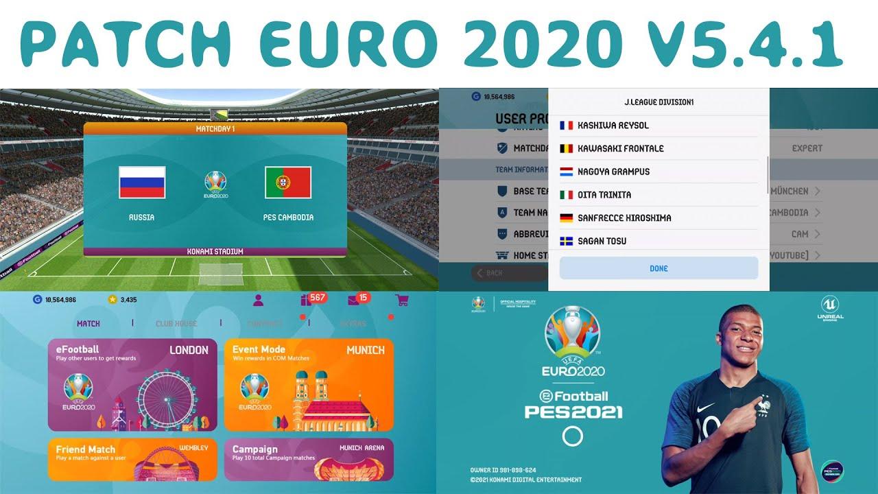PATCH UEFA EUR0 2020 PES 2021 V5.4.1