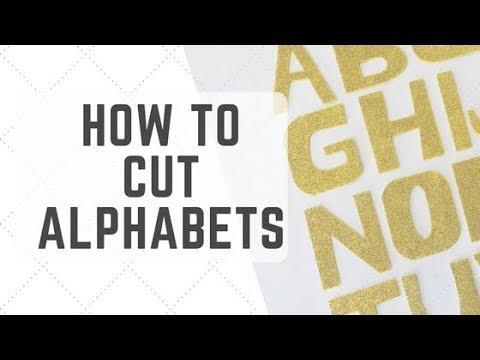How to cut Alphabets from glitter foam sheet   Basic DIY Glitter letter cutting   Alphabet Cutting