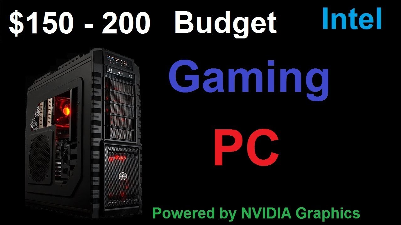great gaming pc build for 150 200 dollars youtube