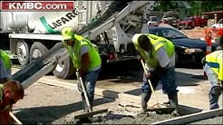 Construction Crews Work Hard To Beat Heat
