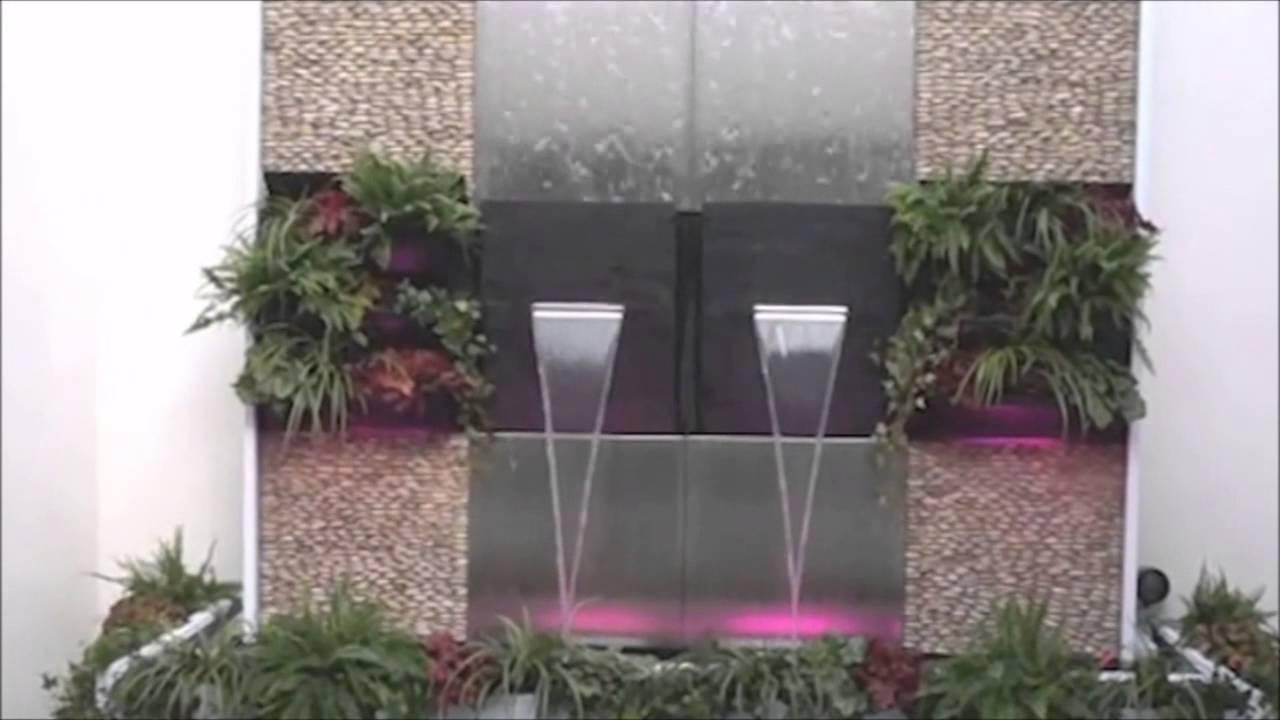 terrassen wasserwand natura-wall aus schiefer. - youtube, Garten und Bauen