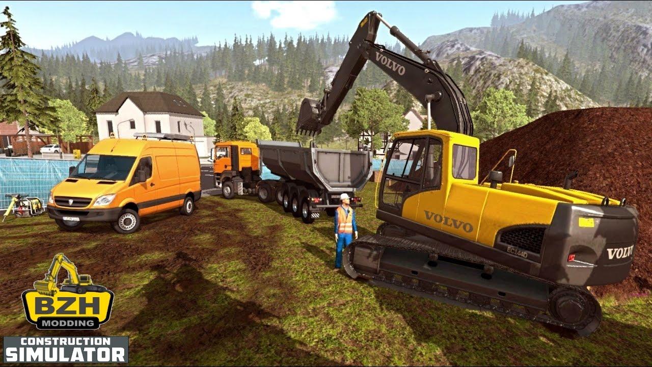 Construction simulator 2015 big chantier terrassement fr - Pelleteuse simulator gratuit ...