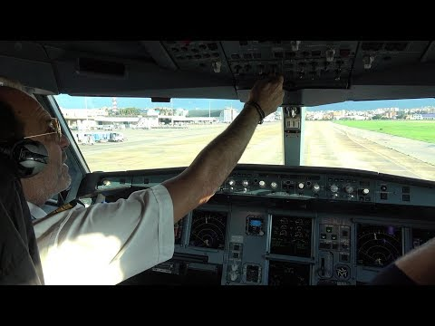 Airbus A330 Cockpit Departure Lebanon Beirut with Middle East Airlines HD