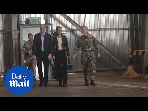 Kate and William visit military personnel at RAF base in Cyprus