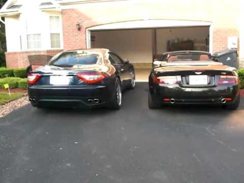Aston Martin Db9 And Maserati Granturismo Exhaust Youtube
