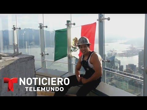Un Mexicano iza bandera en torre de Donald Trump | Noticiero | Noticias Telemundo