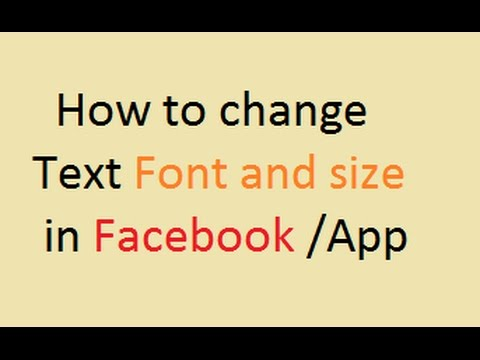 How to change Font and Size of Text in facebook || OnlineTipsZone