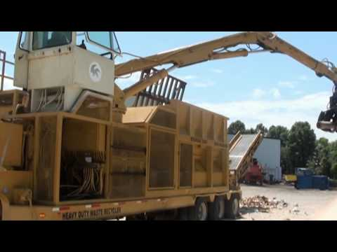 Rome Stomas Mawler Model 3300 Recycling & Waste Reduction Machine - Cardboard Cores Demo