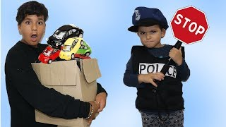 Kids Pretend Play With Police Costume