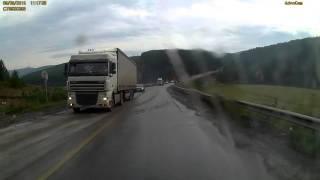 Жуткая авария на дороге м5 , 18+!