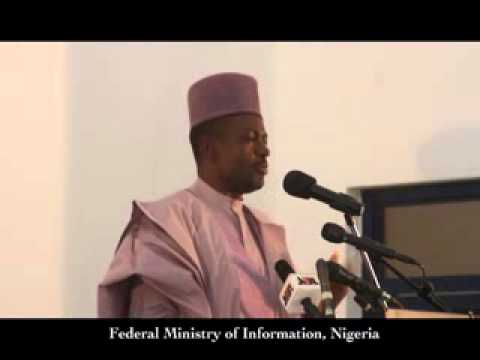 Press Conference (October 2013) by the Minister of Information, Labaran Maku